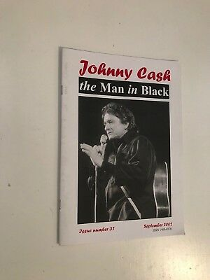 """The Man In Black"" no.32 UK Johnny Cash fanzine September 2002 ."
