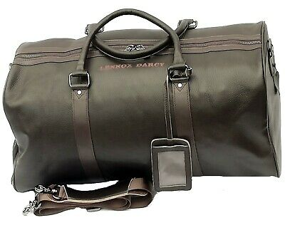 Large Leather Weekend Bag Travel Holdall Duffle Sports Cabin Gym Holdall Luggage