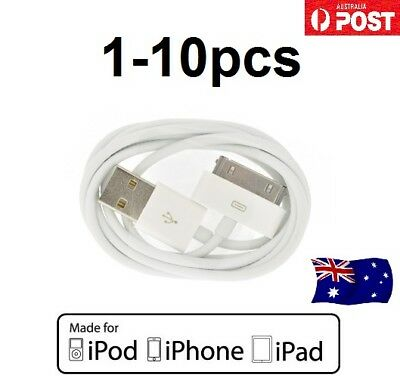 1-10Pack USB Data Sync Charger Cable Cord For iPhone 4 4S 3GS iPad 2 3 iPod