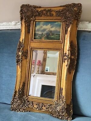 Antique French Hallway Carvers & Gilders Mirror Painting Picture Gold Frame