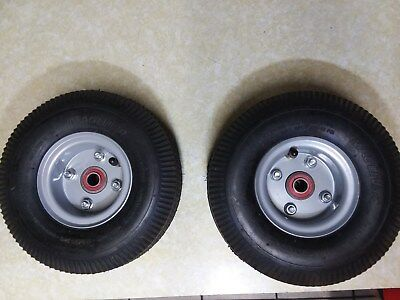 "Magliner Offset Hub Hand Truck Tire 5/8"" ID 10"" Pneumatic Wheels PAIR"