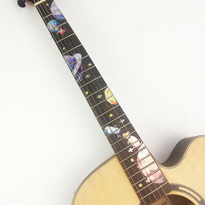 Novelty Guitars Fret Neck Decal Dog for Acoustic Guitar Decoration Adornment