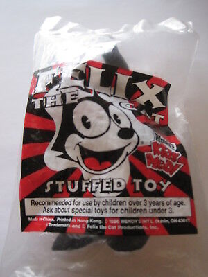 Felix The Cat Stuffed Toy from Wendy's Kids Meal -Unopened-In Original Bag-1996