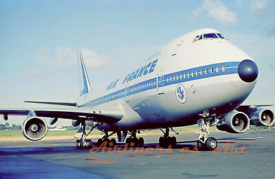 """Air France Boeing 747-128 F-BPVP at Martinique in 1977 8""""x12"""" Color Print"""