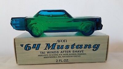 Vintage Avon '64 Mustang, NIB Tai Winds After Shave car