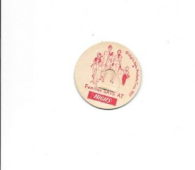 HIGH'S DAIRY PRODUCTS CORP 1957 Maverick Milk Bottle Cap Has Family & Dog People
