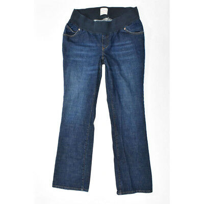 OLD NAVY Maternity Low Rise Boot Cut Jeans LARGE Long Tall Blue Denim