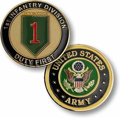 "U.s. Army 1St Infantry Division ""big Red 1"" Challenge Coin"