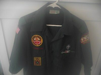 Boy Scout Shirt Adult Men's XL Venturing with patches