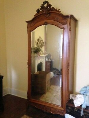 Antique French Carved Armoire