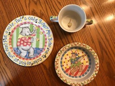 The Essex Collection - Pat-A-Cake - Child's Plate, Bowl and Cup - Never Used