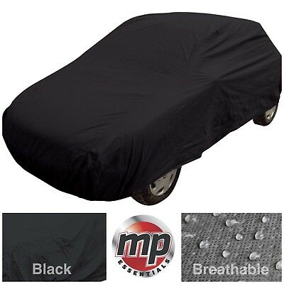 Black Indoor & Outdoor Frost Rain Sun Protection Breathable Full Car Cover LARGE