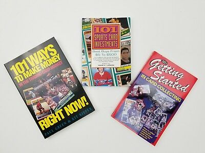 Lot of 3 Card Collecting Books - Sports Card Collecting Trading Investing