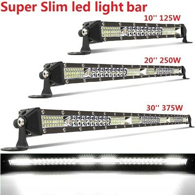 10'' 20'' 30''Single Row Slim LED Work Light Bar Spot Flood Car Offroad Truck 32