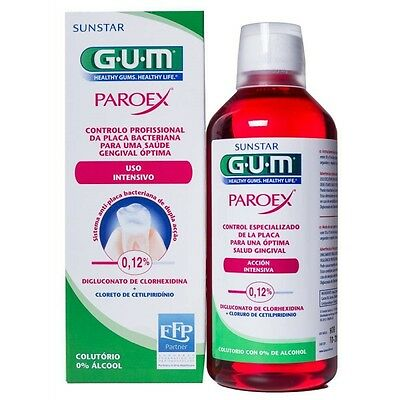 GUM PAROEX COLUTORIO DE TRAT A CORTO PLAZO ACCIÓN INTENSIVA 0% ALCOHOL 500ml