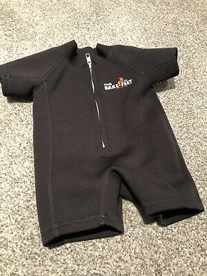Two Bare Feet Black Baby Classic Wetsuit Swimsuit 6 12 Mths