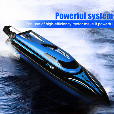 Virhuck Rc Boat 2.4G 4CH Remote Control High Speed 33km/H RC Boat W/2 Batteries