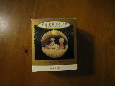 Hallmark Away In A Manger Magic  Lighted Ornament Dated 1994