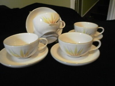Winfield Bird of Paradise Cup and Saucers (4sets)