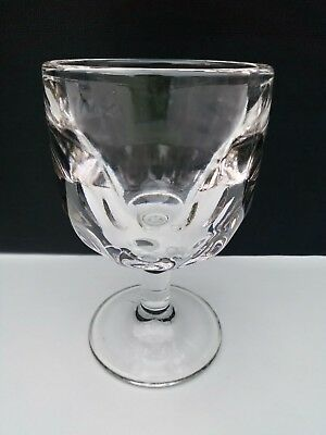 Vintage 60's Thick Very Heavy Clear Pressed Footed Glass, Display Caddy Dish 6''