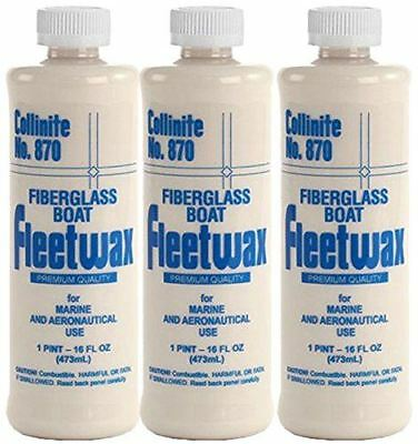 Collinite Liquid Fleetwax #870, 16 oz - 3 Pack