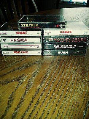 Lot Of 9 Vintage Heavy Metal Cassette Tapes