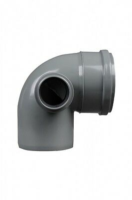 110mm Soil Pipe Elbow Bend 90° Single Socket with 50 mm Left Side Inlet, Waste G