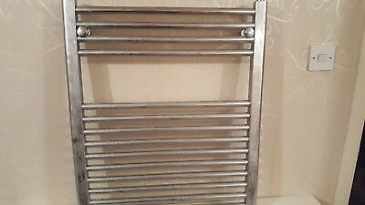 Chrome electric heated towel rail