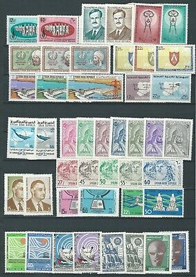 SYRIA NICE LOT 1960s-70s MNH FRESH LOOKING!