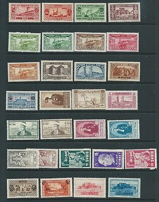 Syria Fresh Looking Lot Mid Period Issues  Mint Hinged Nice!