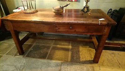 French Antique Walnut Prep Table.