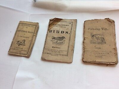 ANTIQUE Lot Of 3 Children's Books 1815-1833-? -3 very old books As Found