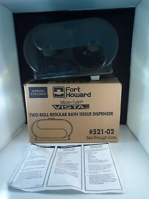 Fort Howard Two-Roll Regular Bath Tissue Dispenser 521-02 New in Opened Box