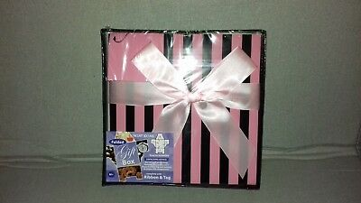 Neat Ideas Present Pink Black Gift Box Including Ribbon & Tag
