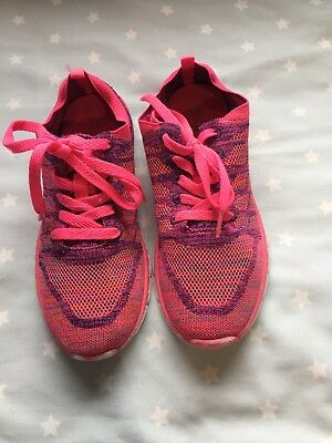 Next Girls Bright Pink Trainers Size 3