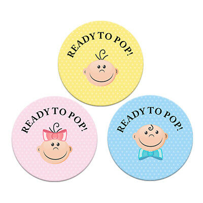 Baby Shower Favours Ready To Pop Stickers Gift Labels Blue Yellow Pink 4 Sizes