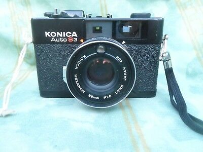 Konica auto S3 compact rangefinder camera with case