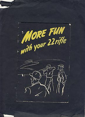 "Vintage ""More Fun With Your 22 Rifle"" Booklet"