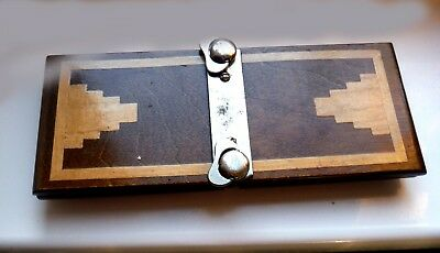 Vintage Art Deco Wooden & Chrome Plated Tie Press-Mosley