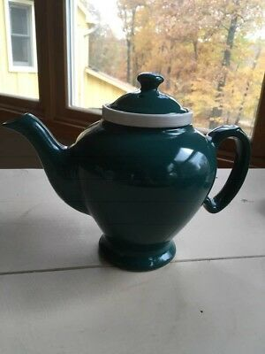 Vintage Hall McCormick Turquoise Teapot with Infuser and Lid