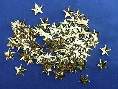 100 Approx Gold Coloured Shimmering Metallic Sequin Stars