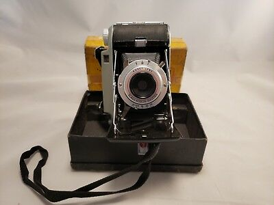 Kodak Tourist II Folding Camera With Original Box - Vintage Decor or Parts Only