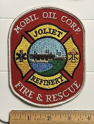 Exxon Mobil Oil Corp. Joliet Refinery Fire & Rescue Embroidered Patch Badge