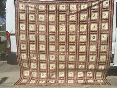 rags--- VERY RARE BROIDERY PERSE QUILT HUGE  1800-1820