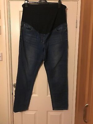 Next Maternity Size 18 Over Bump Relaxed Skinny Jeans