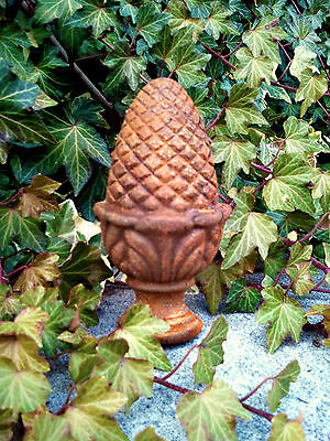 Cast Iron Metal Pineapple Finial Home Garden Fence Bed Yard Patio Outdoor Decor