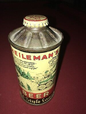 Heileman's Old Style Lager Beer Flat Bottom Mint 1+