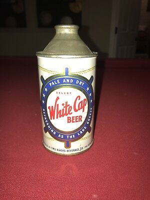 White Cap Beer Cone Top Mint 1+ Solid and Remarkable Colors