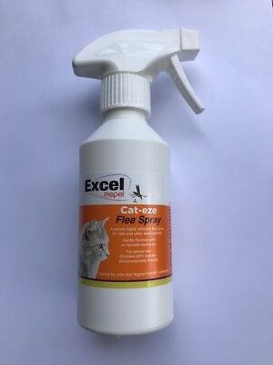 Excel Repel Cat Flea Spray - Flea spray for cats - Free P+P and a Free flea comb