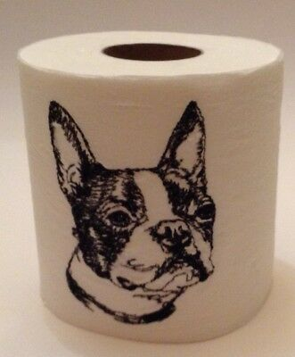 BOSTON TERRIER SKETCH! Embroidered Toilet Paper; makes you smile!
